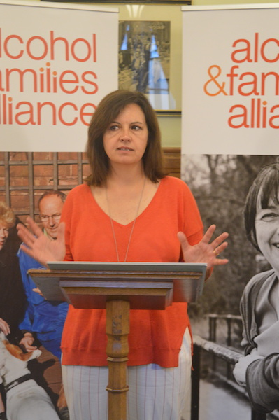 Caroline Flint addresses the audience at the Families First parliamentary event