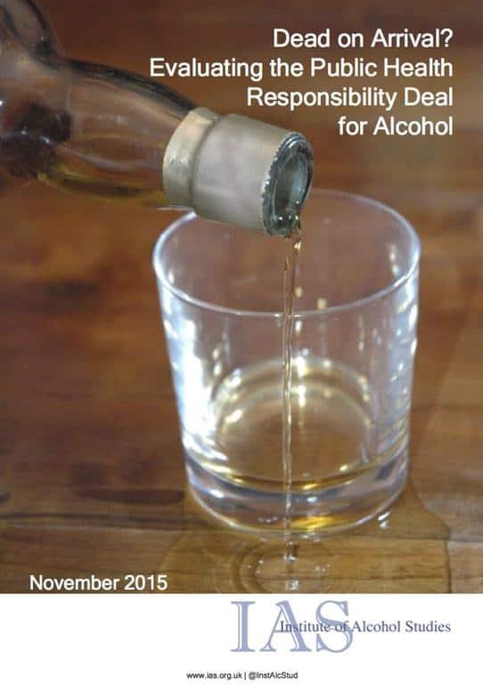 IAS report slams Responsibility Deal alcohol pledges
