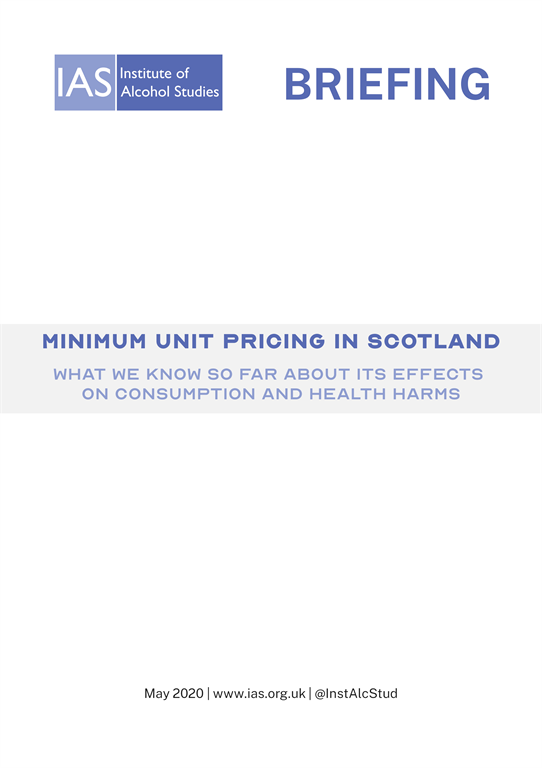 Minimum Unit Pricing in Scotland: What we know so far about its effects on consumption and health harms