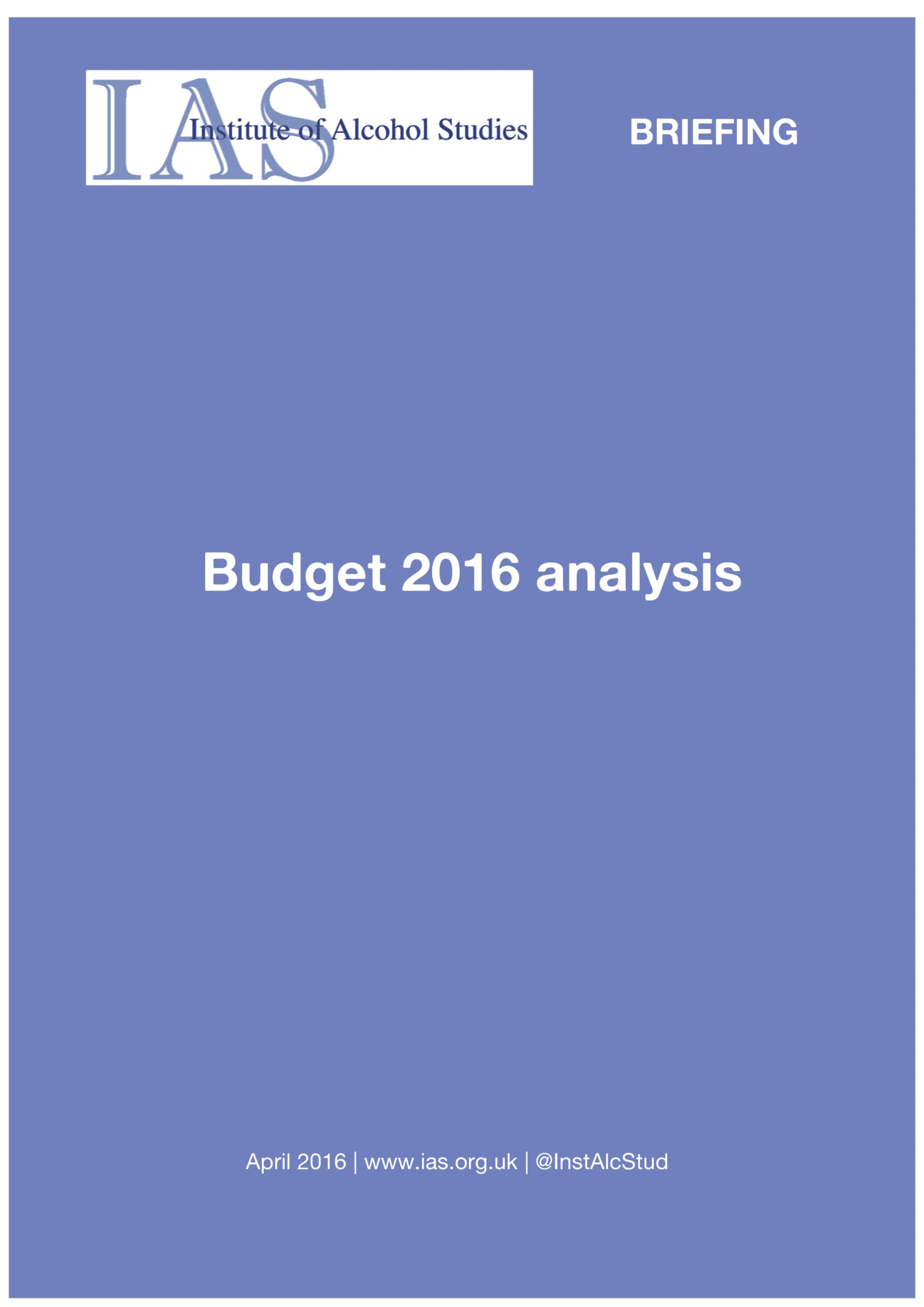 IAS Budget 2016 analysis