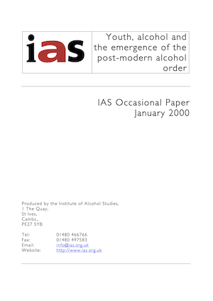Youth, alcohol, and the emergence of the post-modern alcohol order