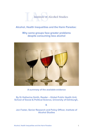 Alcohol, health inequalities and the harm paradox: Why some groups face greater problems despite consuming less alcohol