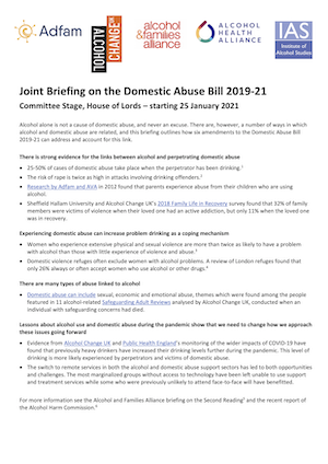 Joint Briefing on the Domestic Abuse Bill 2019-21